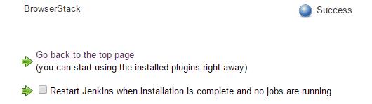 BrowserStack Installation Success