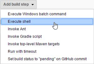 Execute shell